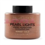 MAKEUP REVOLUTION PEARL LIGHTS LOOSE HIGHLIGTER SUNSET GOLD ILUMINATOR PUDRA