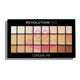 MAKEUP REVOLUTION PRO CONCEAL KIT PALETA CORECTOARE LIGHT / MEDIUM