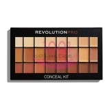 MAKEUP REVOLUTION PRO CONCEAL KIT PALETA CORECTOARE MEDIUM / DARK