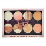 MAKEUP REVOLUTION PRO HD BRIGTER THAN MY FUTURE 8 HIGHLIGHTERS PALETA ILUMINATOARE