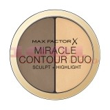 MAX FACTOR MIRACLE CONTOUR DUO SCULPT + HIGHLIGHT LIGHT/MEDIUM