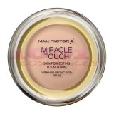 MAX FACTOR MIRACLE TOUCH SKIN PERFECTION WITH HYALURONIC ACID SPF 30 FOND DE TEN CREAMY IVORY 040