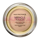 MAX FACTOR MIRACLE TOUCH SKIN PERFECTION WITH HYALURONIC ACID SPF 30 FOND DE TEN GOLDEN IVORY 043