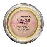 MAX FACTOR MIRACLE TOUCH SKIN PERFECTION WITH HYALURONIC ACID SPF 30 FOND DE TEN LIGHT IVORY 038