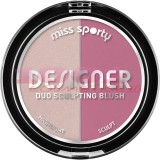 MISS SPORTY DESIGNER DUO SCULPTING BLUSH FARD DE OBRAZ 200 ROSY