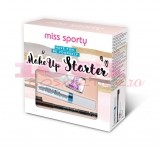 MISS SPORTY STARTER MAKEUP JUST CLEAR MASCARA + CREION SPRANCENE 002 + TRATAMENT BASE & TOP COAT SET