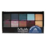 MUA EYESHADOW MATTE PALETTE PALETA 12 FARDURI MATE WINTER FOREST