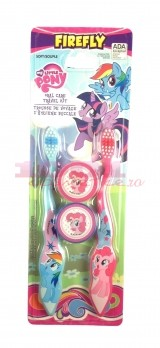 MY LITTLE PONY TRAVEL KIT 2 PERIUTE DE DINTI 3+ SOFT CU CAPACE PROTECTIE SET