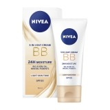 NIVEA BB CREAM 5 IN 1 CREMA  HIDRATANTA DE INFRUMUSETARE LIGHT