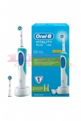 ORAL B VITALITY PLUS CROSS ACTION PERIUTA ELECTRICA CU ACUMULATOR + 2 REZERVE