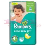 PAMPERS ACTIVE BABI SCUTECE COPII NR.4+ GIANT PACK 70 BUCATI