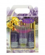 PIELOR BREEZE COLLECTION GEL DE DUS 250 ML + BODY SPRAY 200 ML + SAPUN LICHID 350 ML SET LAVANDA