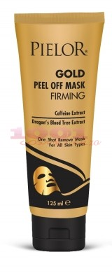 PIELOR GOLD PEEL OFF MASK FIRMING MASCA EXFOLIANTA CU EXTRACT DE COFEINA