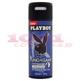 PLAYBOY KING OF THE GAME 24H DEODORANT BODY SPRAY MEN