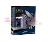 PLAYBOY KING OF THE GAME DNS 75 ML + DEODORANT BODY SPRAY 150 ML SET