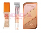 RIMMEL LONDON WAKE ME UP FOND DE TEN 103+ BREATHABLE ANTICEARCAN 100 + CONTURING AND HIGHLIGHTING PALETA 004