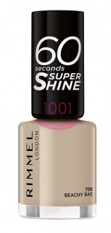 RIMMEL LONDON 60 SECONDS SUPER SHINE LAC DE UNGHII BEACHY BAE 706