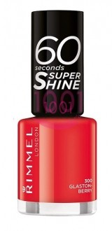 RIMMEL LONDON 60 SECONDS SUPER SHINE LAC DE UNGHII GLASTON-BERRY 300