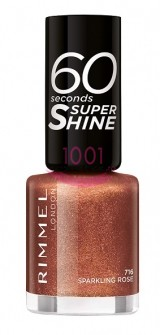 RIMMEL LONDON 60 SECONDS SUPER SHINE LAC DE UNGHII SPARKLING ROSE 716