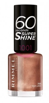 RIMMEL LONDON 60 SECONDS SUPER SHINE LAC DE UNGHII TOP LESS 709
