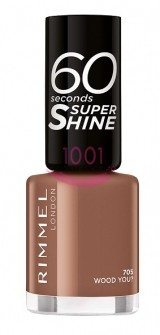 RIMMEL LONDON 60 SECONDS SUPER SHINE LAC DE UNGHII WOOD YOU? 705