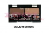 RIMMEL LONDON BROW THIS WAY KIT PENTRU SPRANCENE MEDIUM BROWN 02