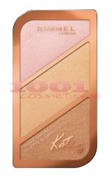 RIMMEL LONDON KATE SCULPTING CONTURING AND HIGHLIGHTING PALETA 004 HIGHLIGHTER