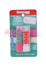 RIMMEL LONDON KEEP CALM AND LIP BALM BALSAM DE BUZE SET 2 BUCATI 020 + 060