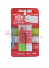 RIMMEL LONDON KEEP CALM AND LIP BALM BALSAM DE BUZE SET 2 BUCATI 040 + 060