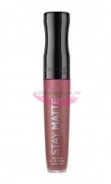 RIMMEL LONDON STAY MATTE LIQUID LIP COLOUR GLOSS DE BUZE MAT REZISTENT PINK BLISS 100