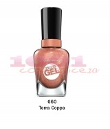 SALLY HANSEN MIRACLE GEL LAC DE UNGHII TERRA COPPA 660