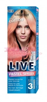 SCHWARZKOPF LIVE COLOR PASTEL SPRAY COLORAT PENTRU PAR CANDY COTTON