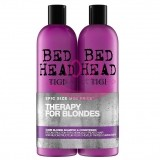 TIGI BED HEAD THERAPY FOR BLONDES DUMB BLONDE SAMPON 750 ML + BALSAM 750 ML SET