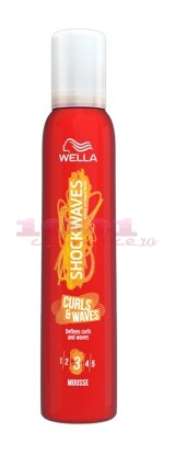 WELLA SHOCKWAVES CURL & WAVES SPUMA PENTRU PAR