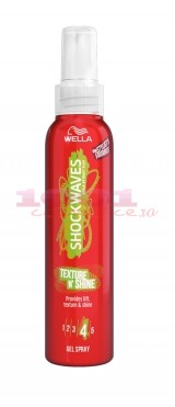 WELLA SHOCKWAVES  TEXTURE N SHINE SPRAY PENTRU PAR